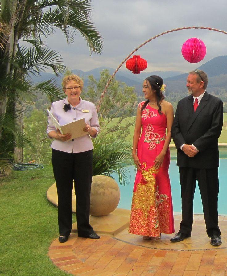 Gavin married Tunya on his beautiful property at Widgee.