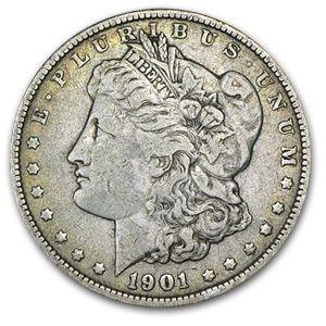 1901 Morgan Silver Dollar - Extra Fine 1901_MORGAN_SILVER_DOLLAR_EXTRA_FINE - $102.94