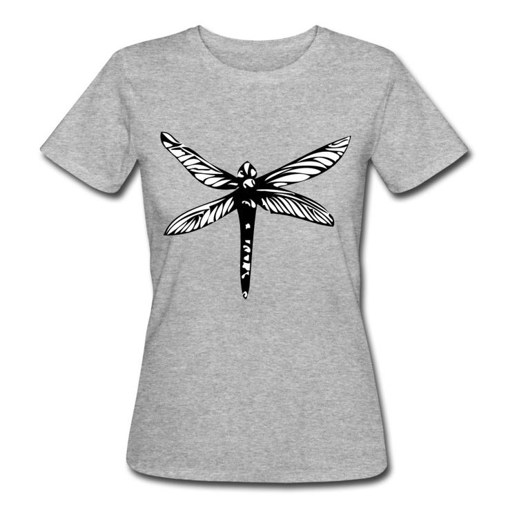 Dragonfly t-shirt for women  100% organic cotton