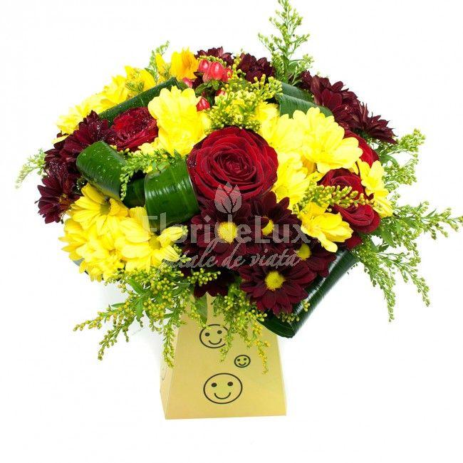Buchete jucatuse si vesele, cu crizanteme proaspete! Alege acum online cele mai frumoase cadouri pentru cei dragi!