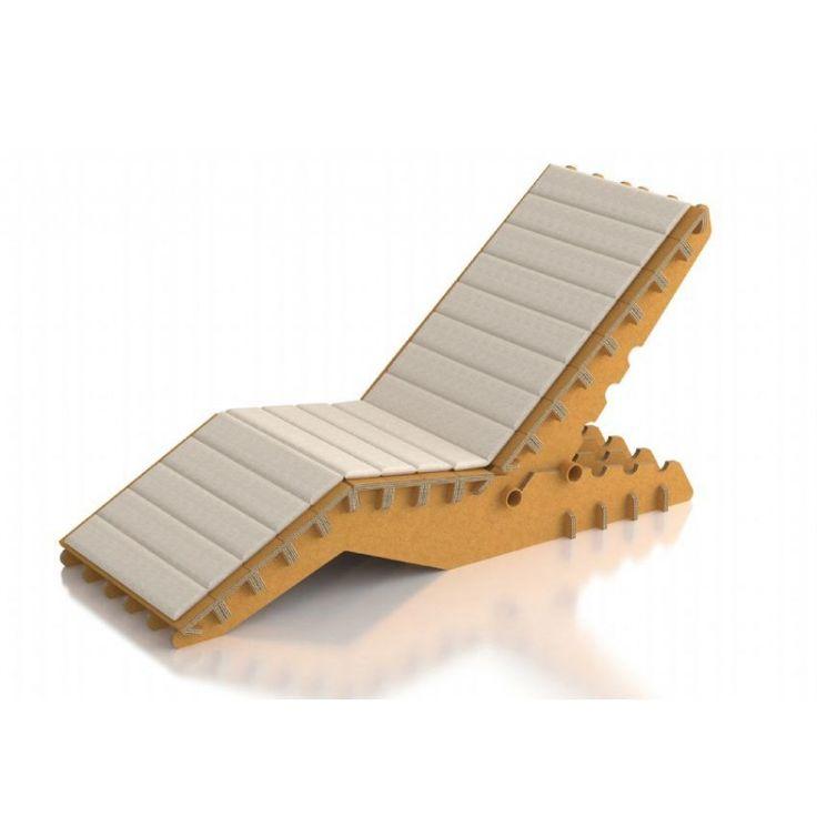 Rivestimento in cotone per sdraio con schienale regolabile Charve