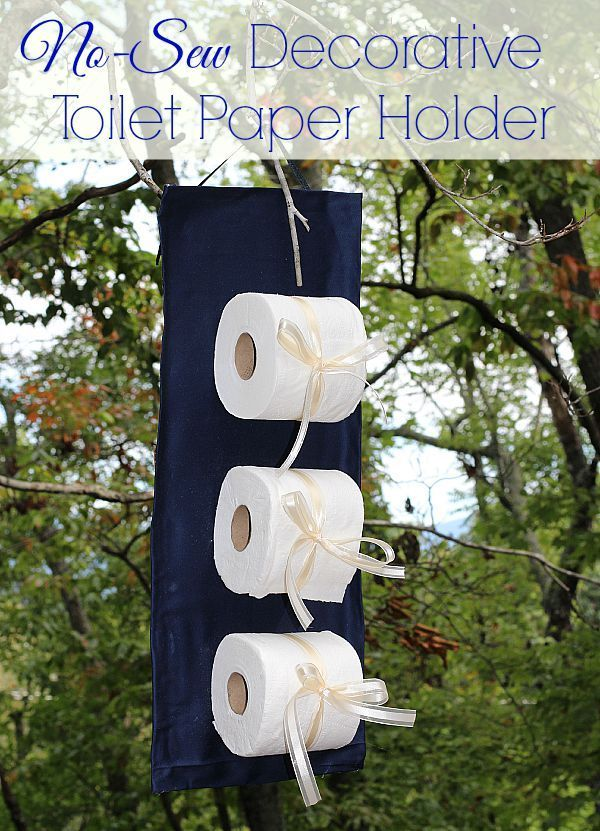If your bathroom is in need of a makeover, start with this easy no-sew decorative toilet paper holder! And don't forget the Quilted Northern! #CraftedExperience AD