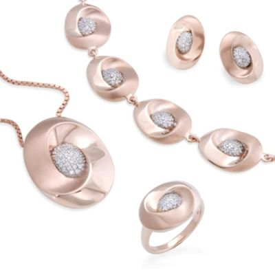 Dainty Pink Stone Jewellery - Finished Products