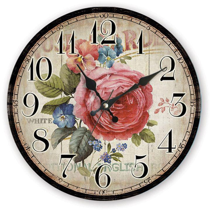 Rose Antik Ahşap Duvar Saati  Ürün Bilgisi;  MDF gövde Sessiz akar saniye Çap 35 cm. Çok şık ve dekoratif ahşap duvar saati Ürün resimde olduğu gibidir