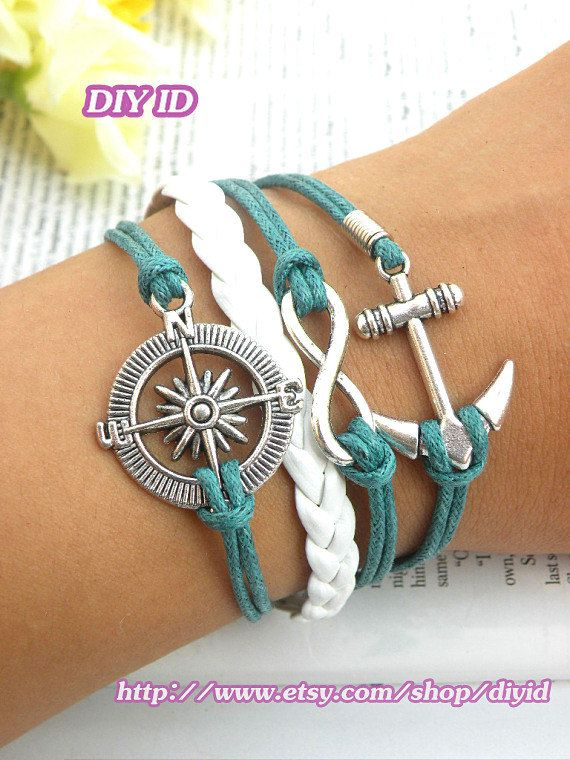 Hey, I found this really awesome Etsy listing at https://www.etsy.com/listing/158173628/retro-silver-compass-bracelet-infinity