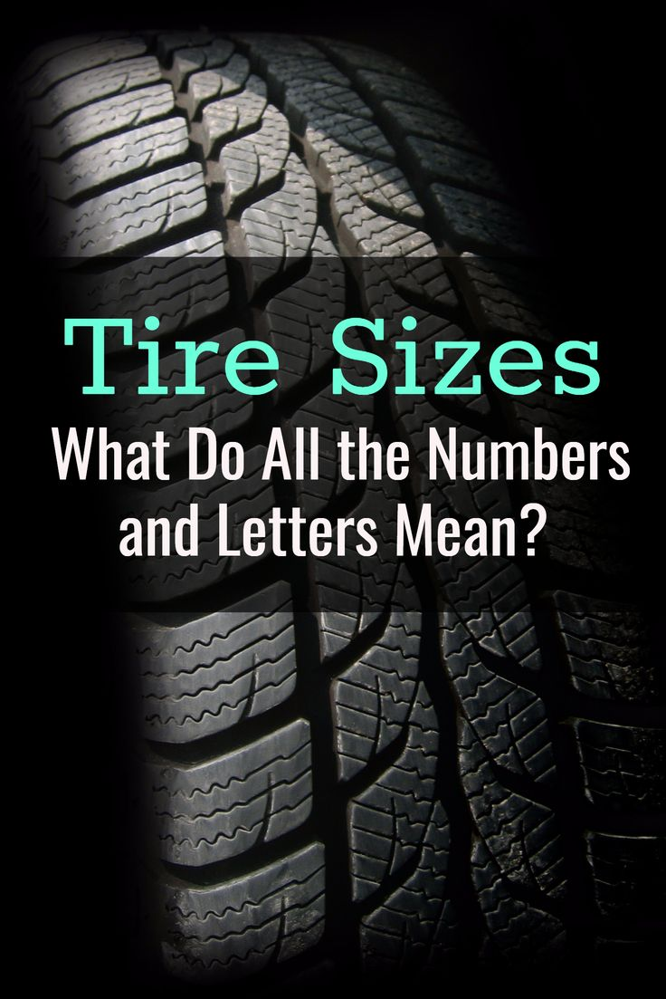 What Does Letters And Numbers Mean On Tire Size