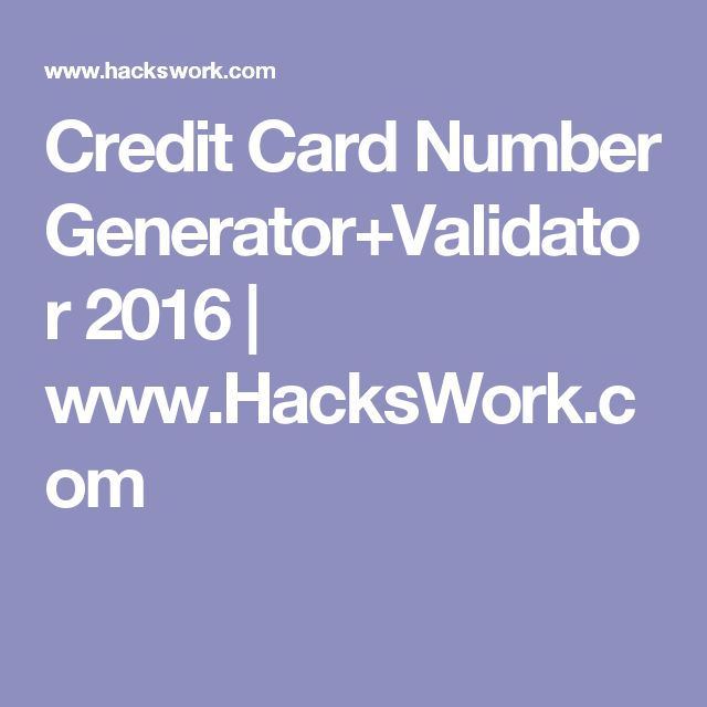 credit card generator no survey