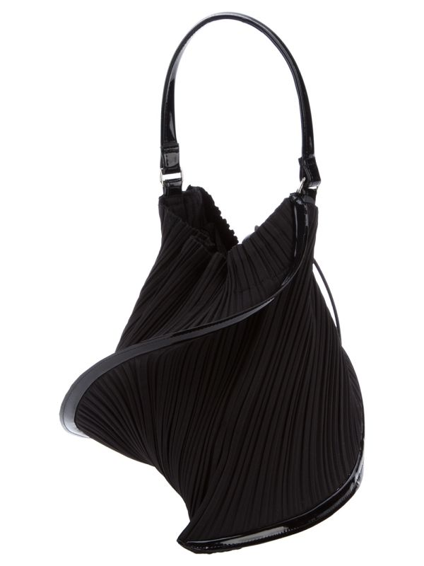 PLEATS PLEASE BY ISSEY MIYAKE - twisted pleated clutch by hollie
