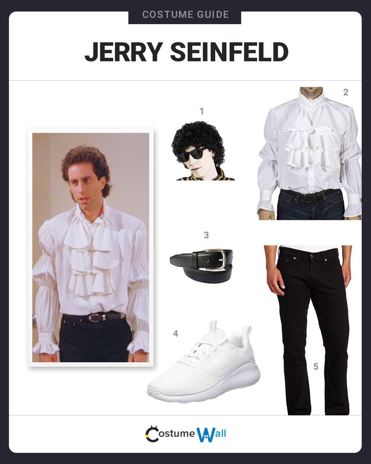Dress up in the hilarious Puffy Shirt look of Jerry Seinfeld, from the television comedy series Seinfeld.