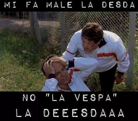 """""""Sì, è lì la Vespa"""" """"No la Vespa, la deeesdaa"""" #malditesta #7chiliin7giorni #pozzetto #verdone #fuckinheadache"""
