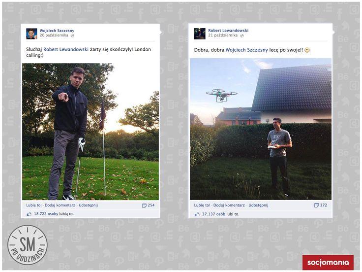 Facebook. Szczęsny vs Lewandowski