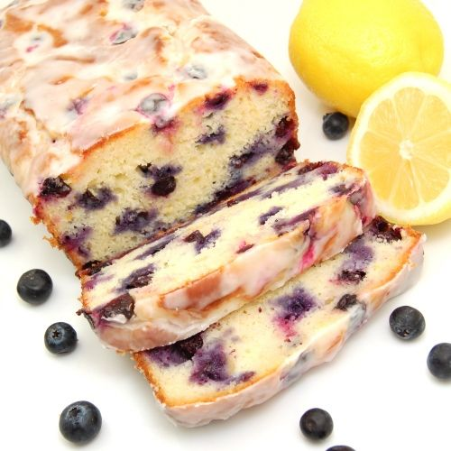Lemon-blueberry yogurt bread: Lemon Blueberries Loaf, Squeezed Lemon, Lemon Zest, Lemon Loaf, Loaf Recipes, Blueberries Breads, Lemon Glaze, Sweet Peas, Blueberries Yogurt