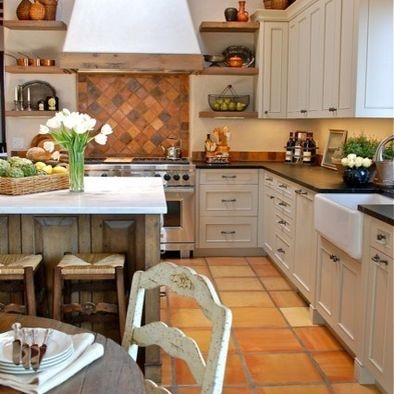 Santa Fe Country French Kitchen Remodel Traditional Kitchen Other