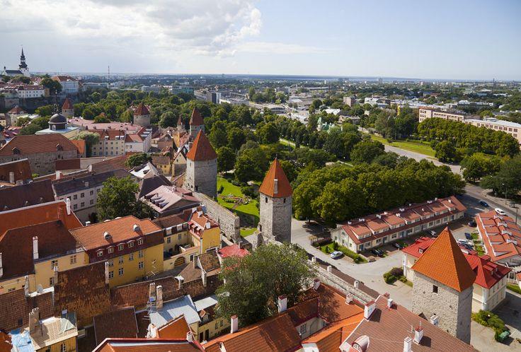 View of Tallinn from St. Olaf's church.