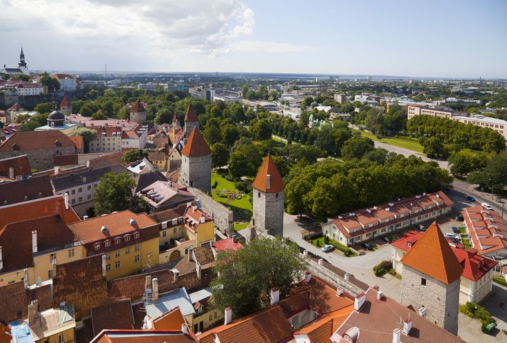 View of Tallinn from St. Olaf's church.