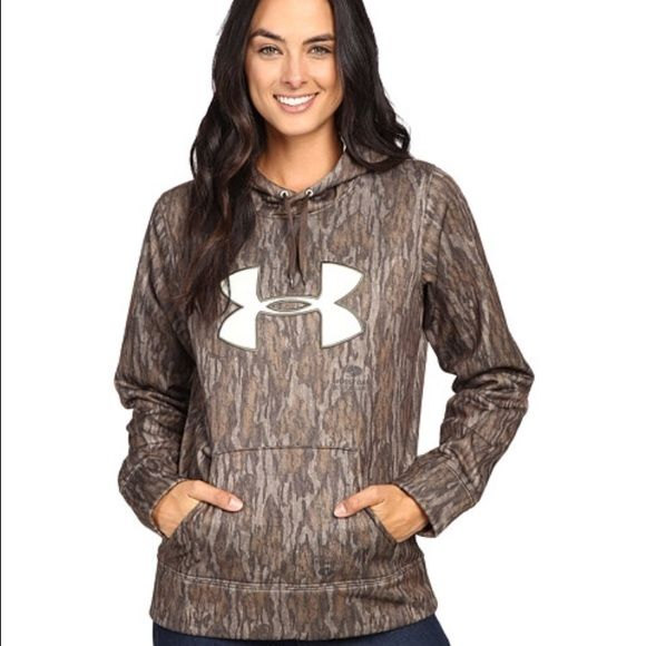 I just discovered this while shopping on Poshmark: Under Armour Mossy Oak HoodieNWT. Check it out!  Size: S