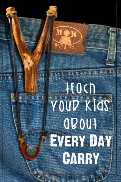 Teach your kids about Every Day Carry (EDC). They can learn about what items they should be carrying every single day in their pockets, that just might save a life someday.