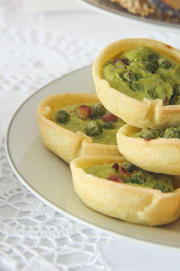 quiche primavera con piselli e ricotta - spring quiche with peas and ricotta