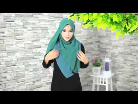 #38 Cara Pakai Tudung Bawal Seperti Shawl Tutup Dada Gaya Najwa Latif | Hijab Inspiration 2015 - YouTube