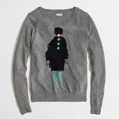 J.Crew Factory - Factory Warmspun Intarsia French Lady Sweater
