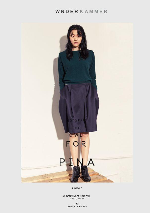 Wnderkammer_2013 fall look  www.wnderkammer.com  #wnderkammer#fall woman fashion# #2013 fall collection# #tuck skirt#youjungum