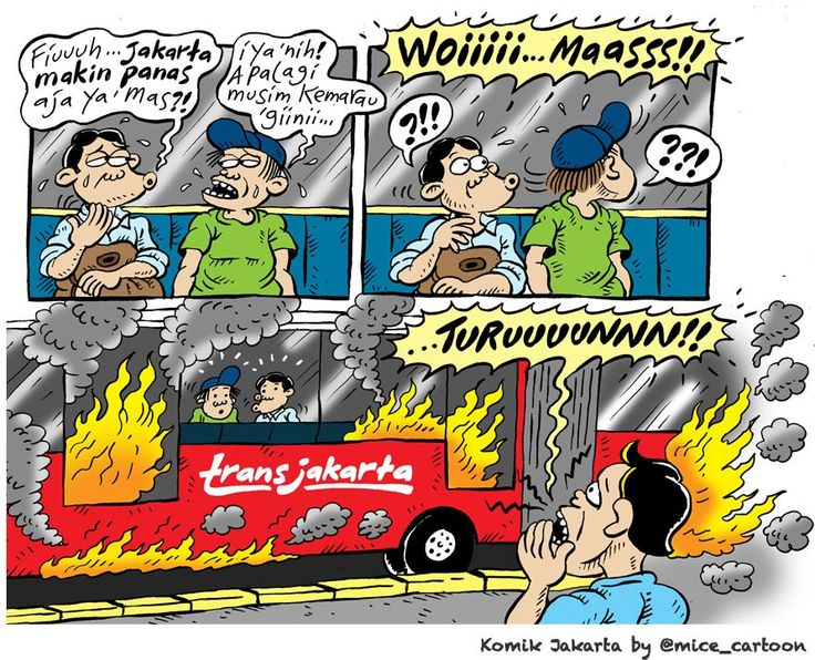 Mice Cartoon, Komik Jakarta - Agustus 2015: Jakarta Makin Panas