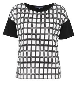 #Frenchconnection Check black & white Printed tee....monochrome trend