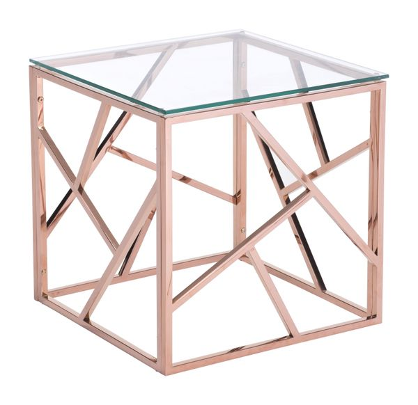 PRODUCT DESCRIPTION: Slim And Sleek Perfection As A Stunning Cage Side Table  Is Created With