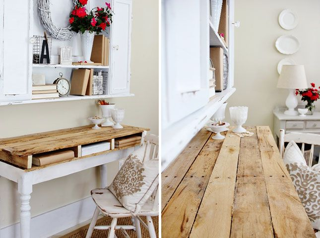 Pallet top desk | Creative Ways to Repurpose Pallets