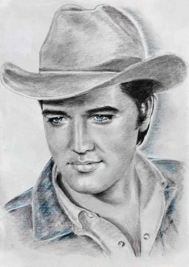 ELVIS art by Ewa Stepien: This is an amazing drawing of Elvis as Joe Lightcloud in STAY AWAY, JOE. See more of her beautiful Elvis drawings at: https://www.facebook.com/ewa.stepien.7146/media_set?set=a.1376549789239567.1073741826.100006536762949&type=3