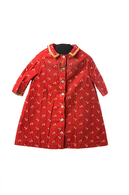 Child's red cotton coat and cap by Charleston Museum, via Flickr
