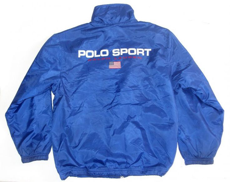 Vintage 90s  Polo Sport Ralph Lauren Women's  Jacket Flag Logo Fleece Lined Size Medium by VapeoVintage on Etsy
