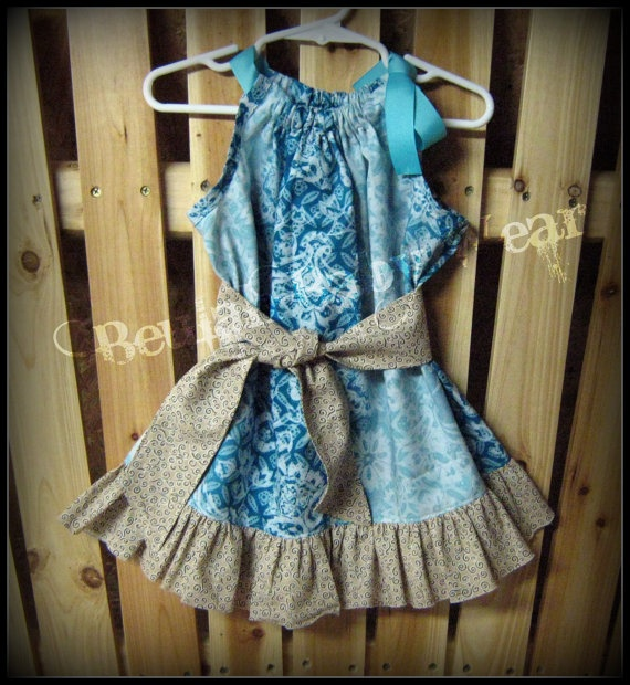 Country Pillowcase Dress by BeulahBabyWear on Etsy, $25.00: Bows Tutu Dresses, Country Pillowcases, Pillows Dresses, Country Pillows, Etsy, Pillowcases Dresses, Baby Girls, Brooks Things, Pillowca Dresses
