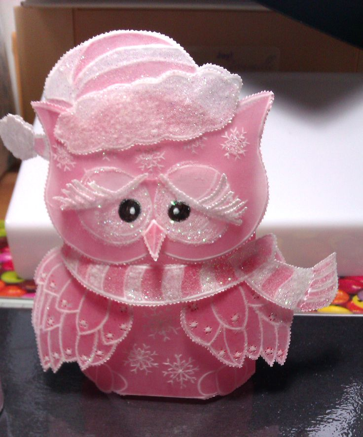 christmas owl design by linda williams