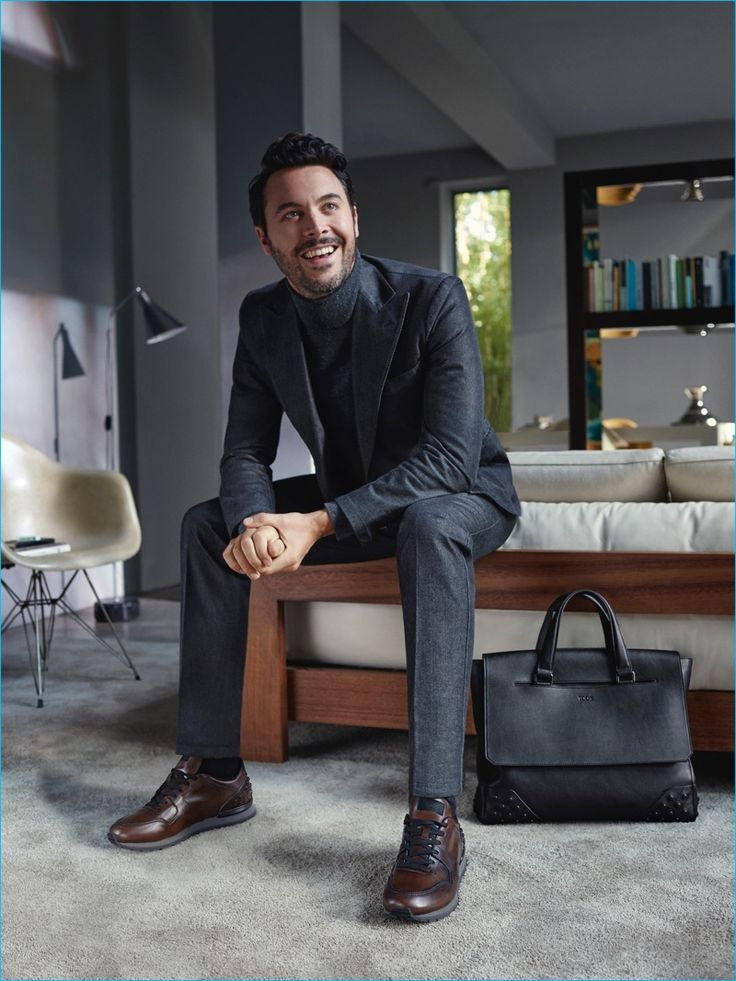 Jack Huston suits up for TOD'S fall-winter 2016 campaign.
