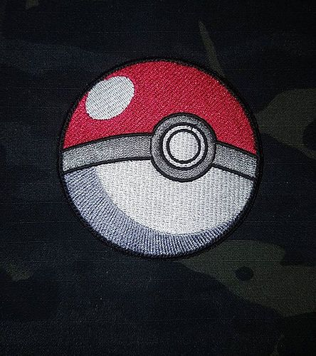 Pokemon pokeball fully embroidered morale patch a must have for any pokemon trainer 7cm diameter