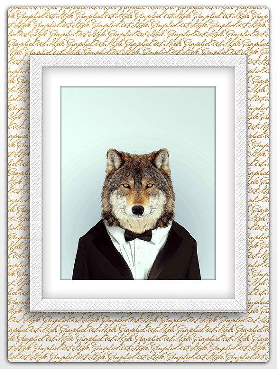 Wolf man print, Wolf Print, Wolf printable, Wolf poster, Wolf art, Wolf wall art, Printable Wolf art, Animal Wall Art, Animal printable art