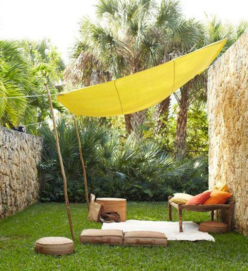 M s de 25 ideas incre bles sobre toldos de vela en for Jardines pequenos triangulares