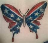 Confederate Flag Butterfly Tattoo in TATTOOS by Arrian Delabahan