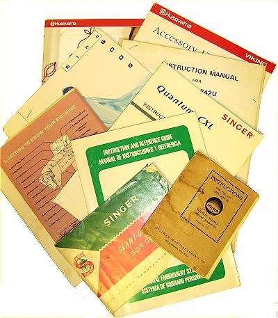 Sewing Tools: Sewing Machine Manuals