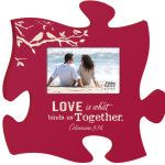 Puzzle Piece Wooden Wall Art with Frame