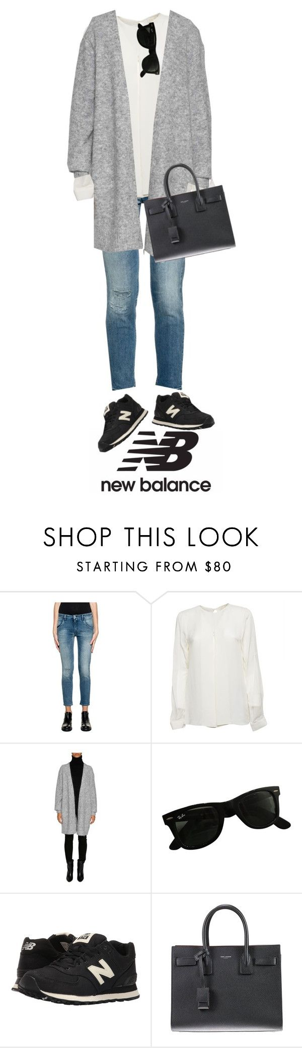 """""""Run the World in New Balance"""" by italist ❤ liked on Polyvore featuring CYCLE, Michael Kors, Acne Studios, Ray-Ban, New Balance Classics, Yves Saint Laurent and NewBalance"""