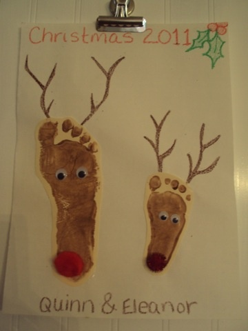 Reindeer Footprints. Another fun Christmas craft.