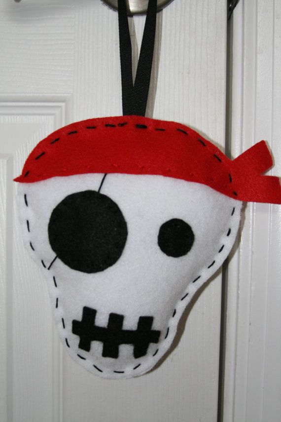 Personalized Pirate Skull Felt Tooth Fairy by TheClassyCrafter, $20.00