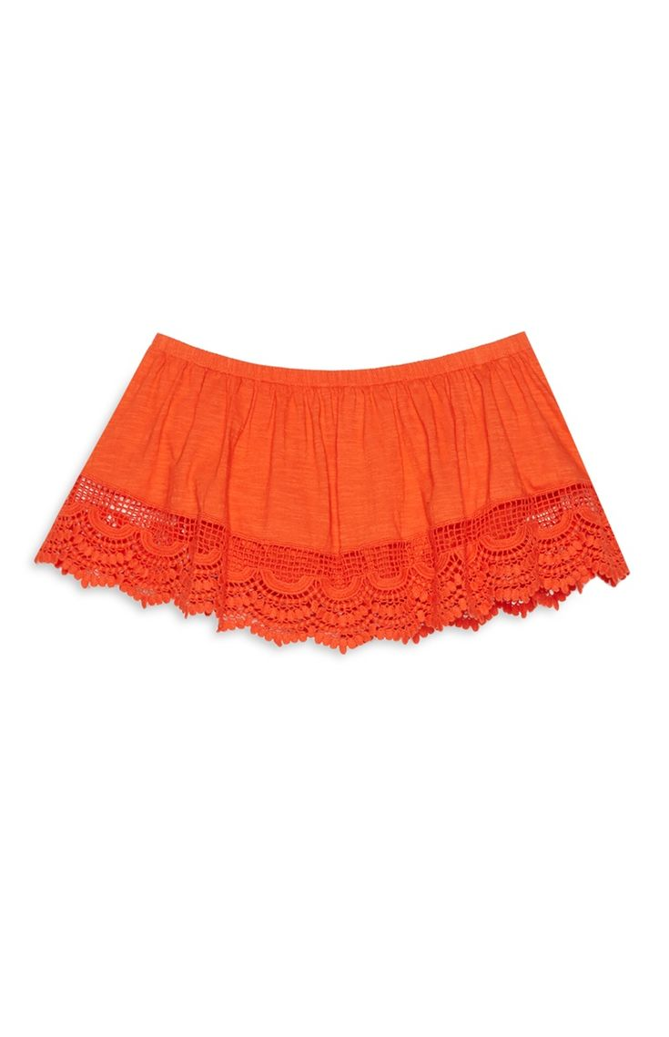 Primark - Orange Crochet Bandeau Top