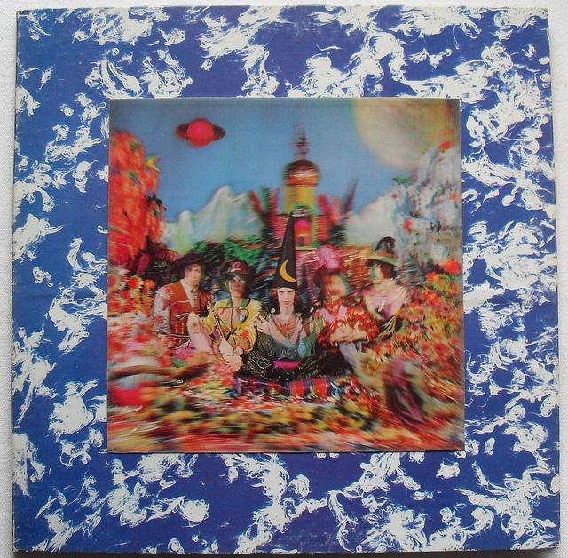 1967 ROLLING STONES Their Satanic Majesties Request 3D Sleeve LP record album vintage vinyl 1960s