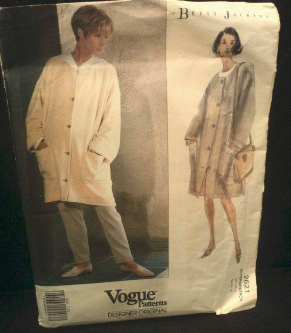 Vintage Vogue Pattern 1991 Betty Jackson by FlirtyGertieVintage, $15.00