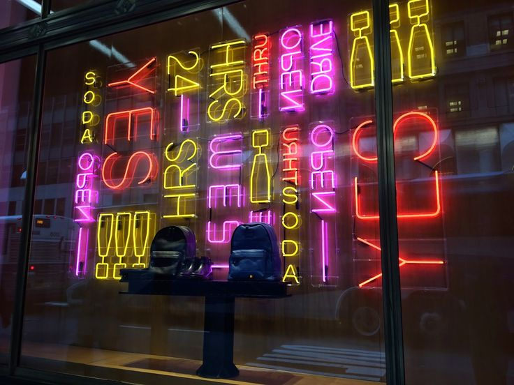 Step into the Window: Neon convenience...