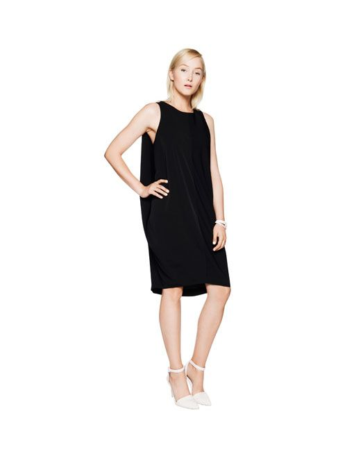 #veronikamaine #black #cocoon #draped #dress #summer13