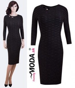 Elegantné čierne šaty pre moletky - trendymoda.sk